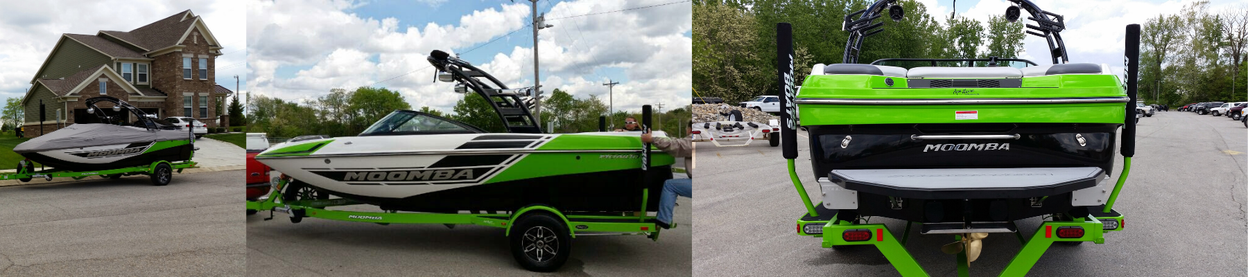 Green and black 2014 Moomba Mondo